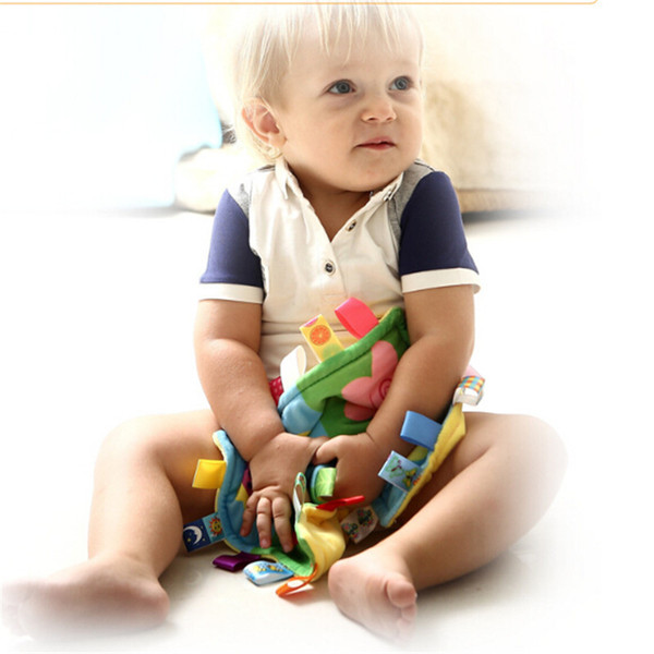 27 * 27 cm bébé apaisant serviette bébé calme lingettes couverture de serviette mignon poupée en peluche jouets en peluche jouets