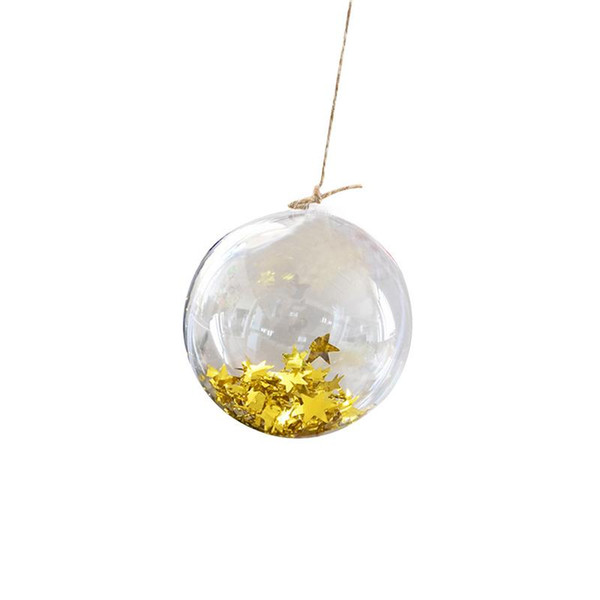 wholesale Christmas Tress Decorations Ball 15cm Transparent Open Plastic Clear Ornament Gift Present Box Decoration