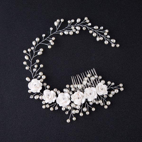 Beautiful Crystals Bridal Hair Combs Hair Accessories Cheap Bridal Jewelry Fashion Hair Tiaras New Bridal Hairpieces Wholesale