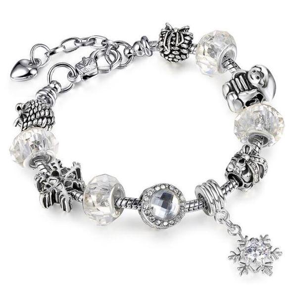 Silver Horse Charm Bracelets European DIY Beads Bracelet For Women Vintage Silver Charms Safe Chain 23CM Bracelet Men Jewelry