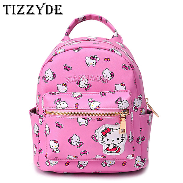 0cc032f8efe2 Cute Hello Kitty Mini Children Cartoon School Backpack For Girls Travel  Lovely Embroidery Appliques School bags DM46