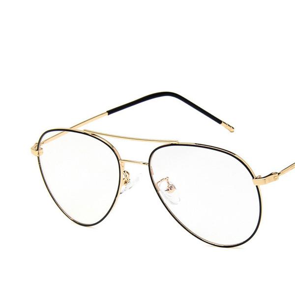Vazrobe Oversized Glasses Frame Men Women 148mm Aviation Eyeglasses for Male Diopter Myopia Optical Prescription Gold Men's Lens