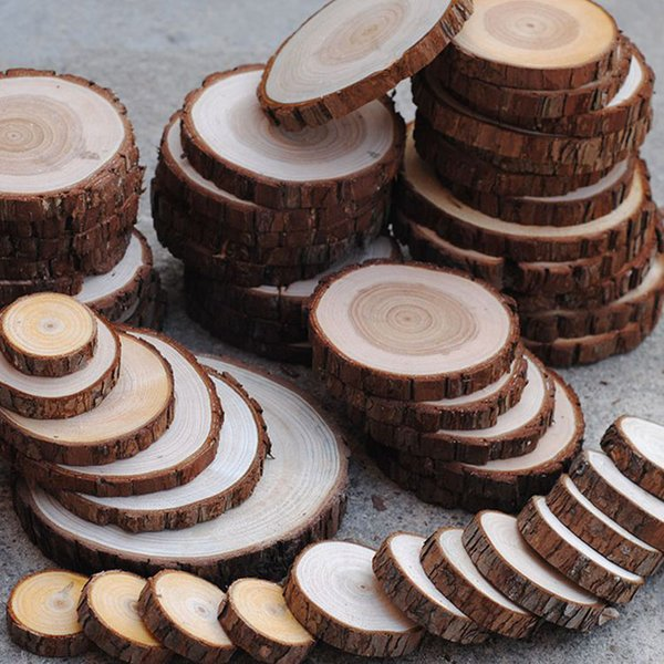 3 To 15cm Nature Pine Wood Chip Polished Base Handmake Craft Mini Micro Landscaping Home Garden Decoration Diy Accessories