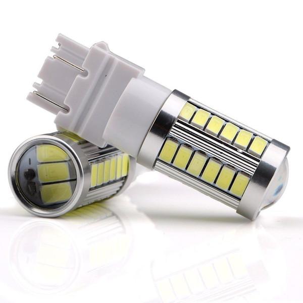 4X 3157 3156 T25 33SMD Auto automatique pour la lumière 33-5730 Puces LED rouges Ampoules de signal de frein de queue