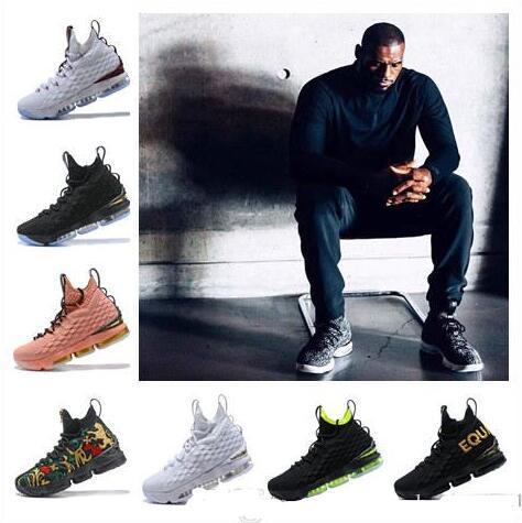 2019 Neue Ankunft designer schuhe 15 GLEICHHEIT Schwarz Weiß Basketball Schuhe für Männer 15 s EP Sport Training Turnschuhe Ankunft Billig