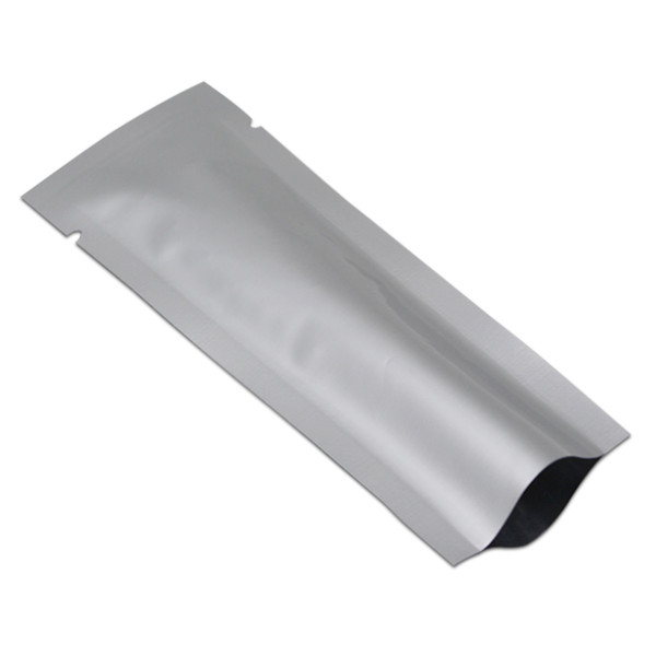 4x12cm Opening Top Heat Sealable Vacuum Package Bags Silver Pure Aluminum Foil Coffee Bag Spice Powder Pouches Party Sugar Tea Storage Bags
