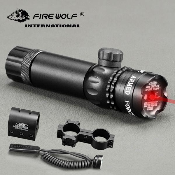 Tactical 5mw Mirino Laser Rosso Verde Laser Rifle Scope Riflescope Designator 20mm Mount Tail Switch per la caccia