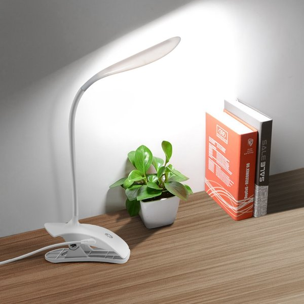 3 Modes Book Lights 5V USB Cable Charging Dimmable LED Desk Lamp Touch Switch Dimmer Control Table Light With Clip Reading Study
