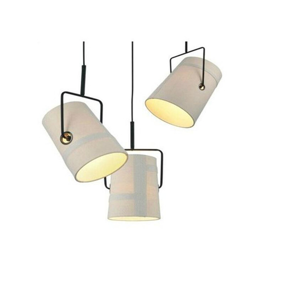 R7S 100W Home Foscarini Diesel Fork pully Ivory Cloth shade pendant light Lamp Suspension lighting Fixture for living room dining room