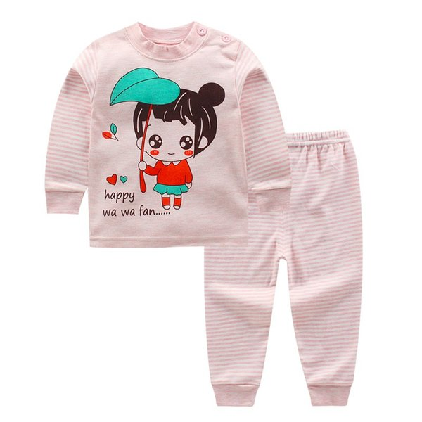 Stylish Cartoon Cotton Sleepwear Pajama Sets for Baby Toddler Kids Girls  boys Size 0-4T 727f64d5f