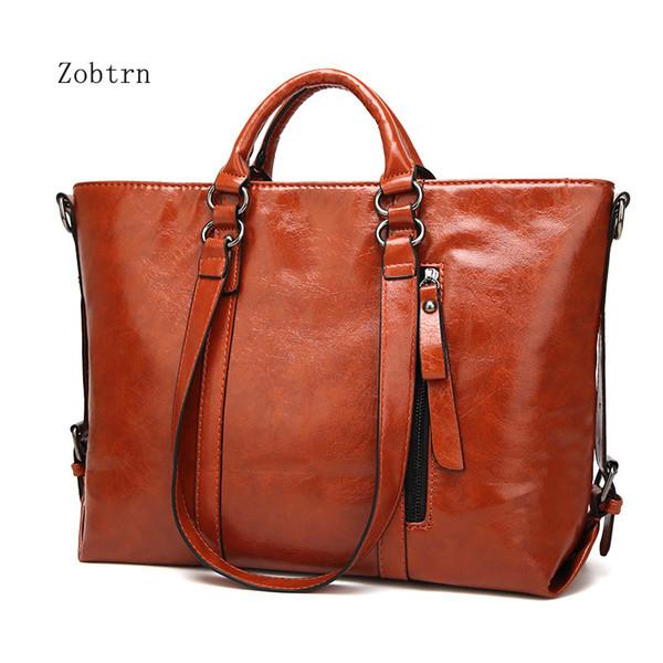Zobtrn Woman Handbags Bags Fashion Retro PU Leather Ladies Shoulder Bags Exquisite Large Capacity Women Crossbody Bag