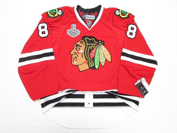 Günstige benutzerdefinierte KANE CHICAGO BLACKHAWKS STARTSEITE 2015 STANLEY CUP FINAL JERSEY Stitch fügen Sie eine beliebige Anzahl irgendein Name Mens Hockey Jersey XS-5XL