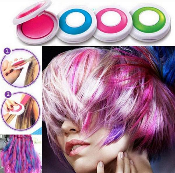 Mode Pigments De Cheveux Lavables Chaude Huez Cheveux Colorés Crème Incroyable Pour Halloween Et Décoration De Noël Accessoires Boîte Paquet 5yn BB