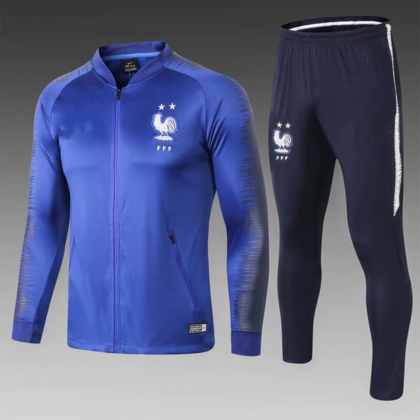 La qualité thaïlandaise 18 19 2 étoiles veste de football costume de formation de football GRIEZMANN 18 19 survetement POGBA TrackSuit chemises veste