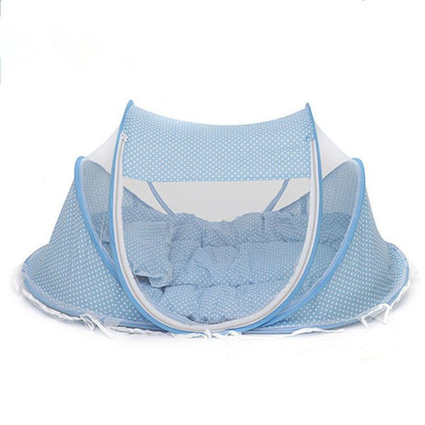 Baby Mosquito Net Tent Foldable Baby Cot Bed Mosquito Bug Net Bed Playpen Portable Travel Crib Canopy Mesh EC1151