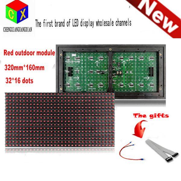 Módulo de pantalla LED al aire libre rojo Ventana de ventana Signo de tienda Señal P10 32X16 Matriz programable