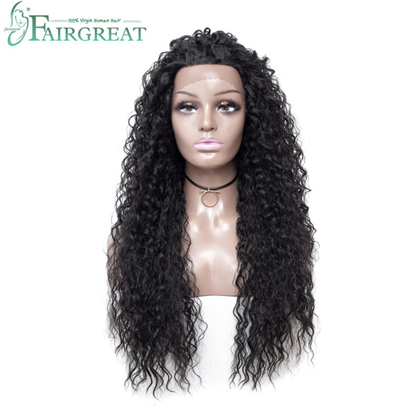 Fairgreat Long Ombre Water Wave Synthetic Lace Front Wigs High Density Heat Resistant Synthetic Hair Wigs For Women 26inch Free Shipping