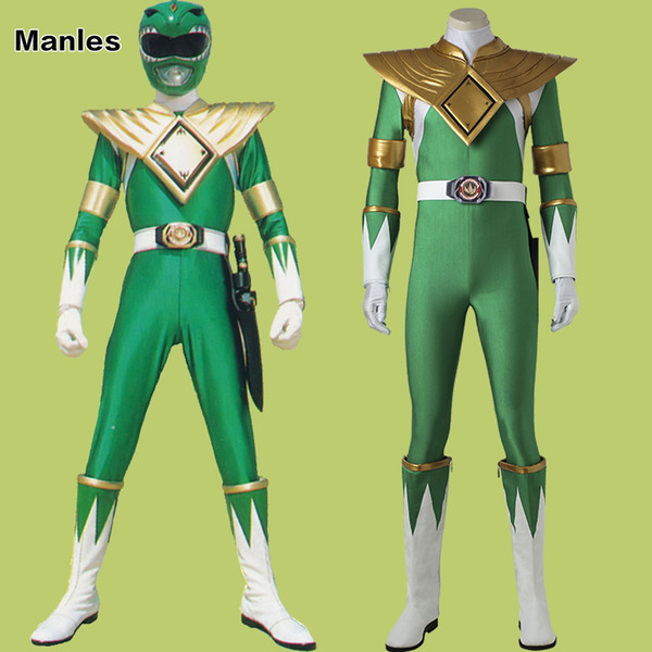 ostumes Accessories Cosplay Costumes Costume For Burai Dragon Ranger Jumpsuit Onesies Cosplay Halloween Zyuranger Green Adult Men Custom ...