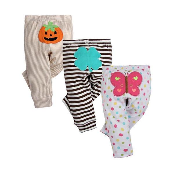 Pantaloni del bambino di moda primavera 3PCS / LOT Pantaloni di cotone infantile primavera autunno Cartoon Monkey Gril pantaloni 0-24 Neonato vestiti del ragazzo della ragazza