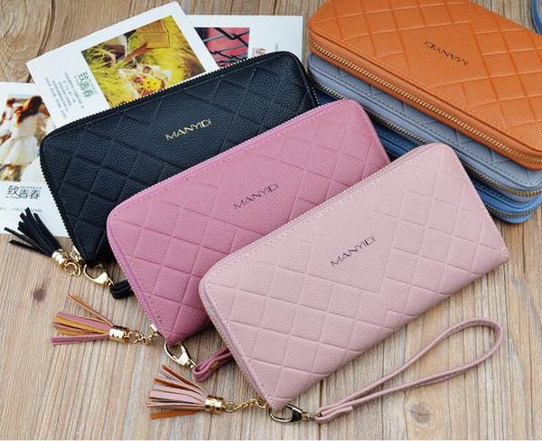NEW STYLE SIX COLOR WALLET FOR WOMEN LADY FEMALE GIRL HAND BAG 19.5CM X 10CM X 2.5CM WB004