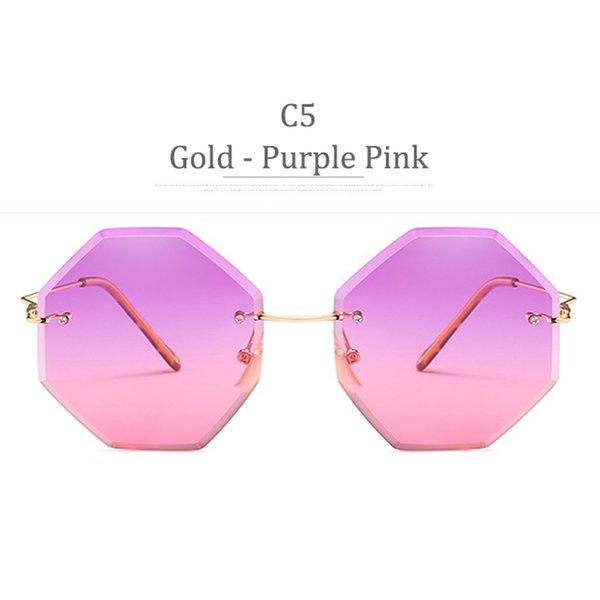 Obiettivo rosa viola in oro dell'oro C5
