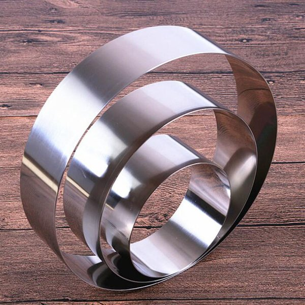 8pcs/set Latest 3.5 - 10 inches round shape mousse ring cake mold stainless steel cheese baking tools for cakes ZA6386