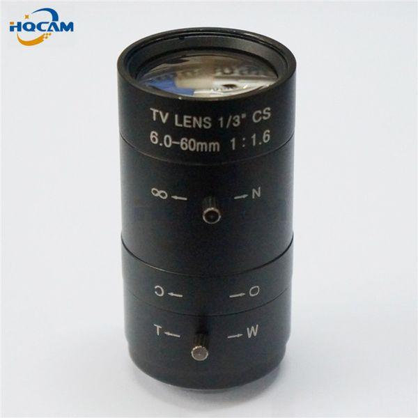 "HQCAM 6-60mm CS F1.8 Lens 1/3"" Varifocal zoom Manual Iris zoom lens for Security CCTV Camera,F1.8 CS 1/3"" 51.5~6 Degree"