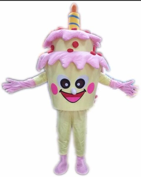 2018 new Adult Size Birthday Cake Mascot Costume Cake Costumes Fancy Dress Halloween