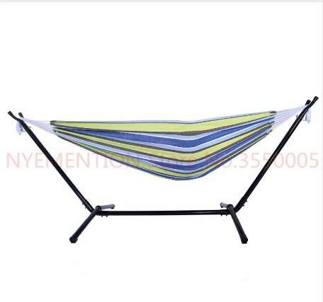 Polyester Outdoor Portable Hammock Set with Stand Dropshipping 2pcs