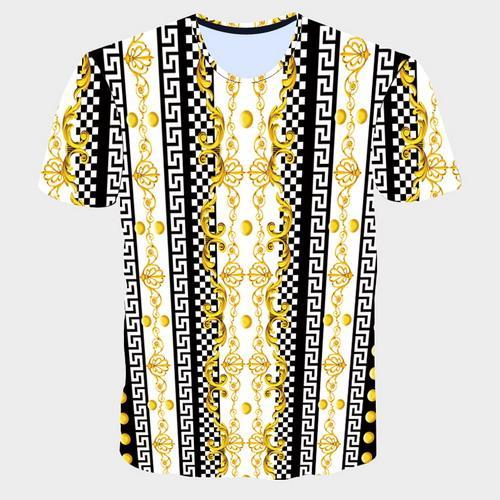 2017 Verão novo 3D T camisas dos homens tshirt Golden Flores leões tarja azul carta americana EUA bandeira Águia impresso dos homens de Manga Curta T-Shirts
