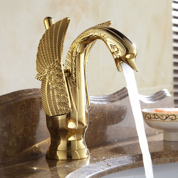 High Grade Total Copper Water Tap Swan Shape Art Style Chrome Antique Taps Stopcock Shower Room Kitchen Faucets Eco Friendly 202 4ax jj