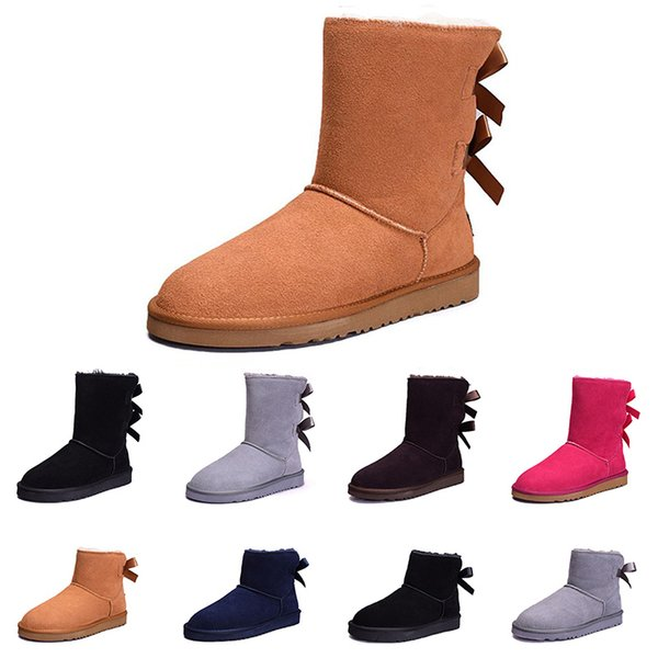 Cheap Australia Classic WGG women winter boots chestnut black grey pink designer womens snow boots ankle knee boot size 5-10 on sale