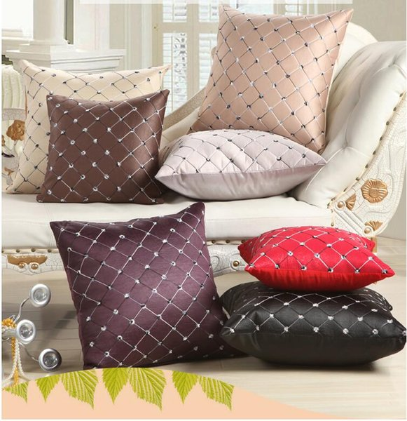 American contracted style simple pillowcase sew flower lattice pillows fresh patch exouisite fashion comfortable soft pallow case