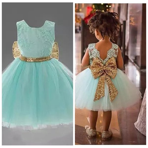 2019 New Arrival Cute Pink White Flower Girls' Dresses Lace Appliques Tulle Puffy Little Girls Ball Gowns For Wedding Party In Stock