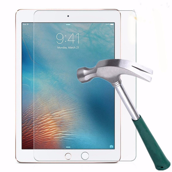 best selling 9H Premium Tempered Glass Screen Protector Film For iPad 2 3 4 5 6 Air Air2 Pro 12.9 11 10.5 9.7 2017 2018 Mini Mini4