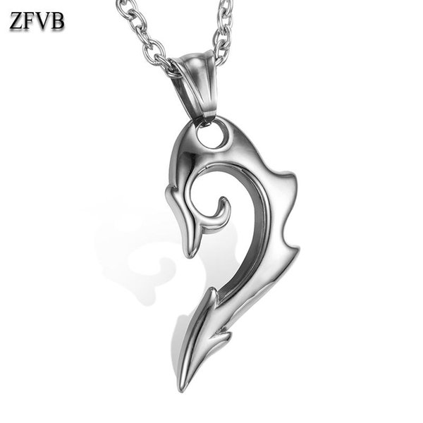 Acier Inoxydable Loup Dent Forme Collier Pendentif Fashion Jewelry Men/'s Gift