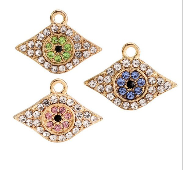 20Pcs/lot rhodium plated Turkey Evil Eye Hamsa Hand of Fatima Judaica Kabbalah Charm Pendant