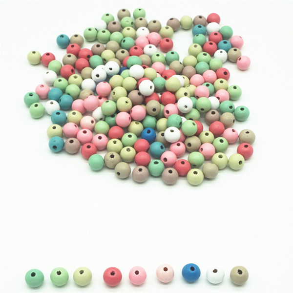 top popular 500pcs lot 12mm Round Colorful Natural Wood Beads For DIY Crafts Baby Childrens Jewelry Making Mixed Color Loose Spacer Wooden Beads 2021