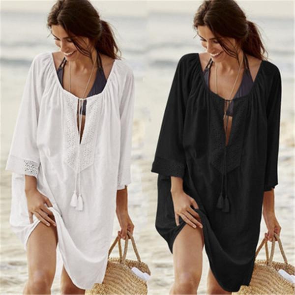 Damen Spitze Crochet Bikini Beachwear Vertuschen Strand Kleid Sommer Badeanzug