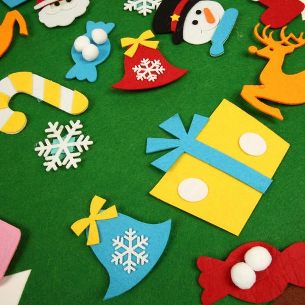 Enfeites de Árvore de Natal DIY Poder Sentiu a Árvore de Natal Linda Parede Pendurado Decoração de Ano Novo Crianças Presentes