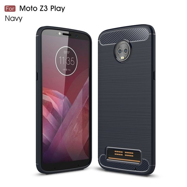 2018 New CellPhone Cases For Motorola Z3 Play Carbon Fiber heavy duty case for MOTO Z3 Play backcover DHL Free shipping