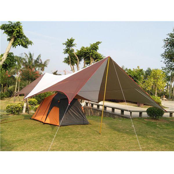 8 * 5 * 2.4 m süper büyük UV su geçirmez aile güneş barınak kabartma açık kamp çadırı gazebo plaj güneş gölge seyahat balıkçılık tente