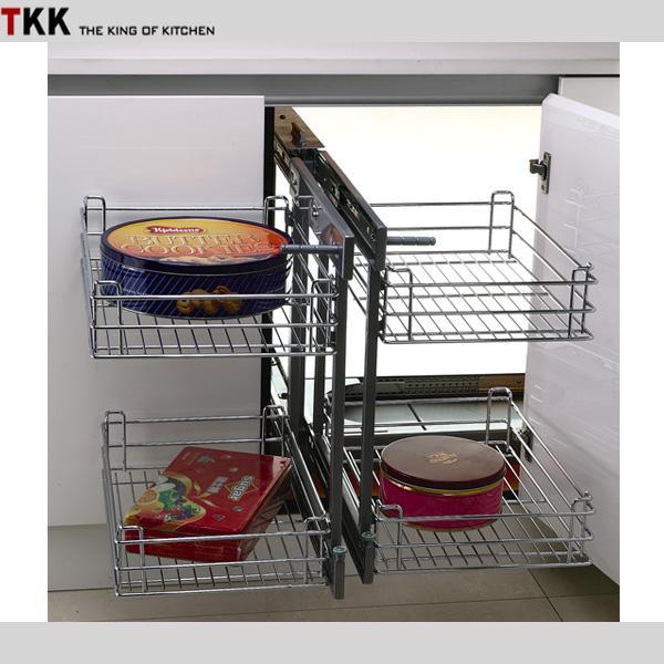 Großhandel TKK GS 90C Cabinet Hardware Zubehör Volle Erweiterung Magic  Corner Eisen Chorme Vergoldet Edelstahl Herausziehen Küche Korb Von  Vingo668, ...