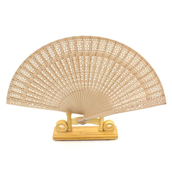 Imitation Sandalwood Folding Fan Chinese Characteristics Wood Silk Hand Wood Fans For Bride Cheap Wedding Favors Guest Gifts 1 8xf jj