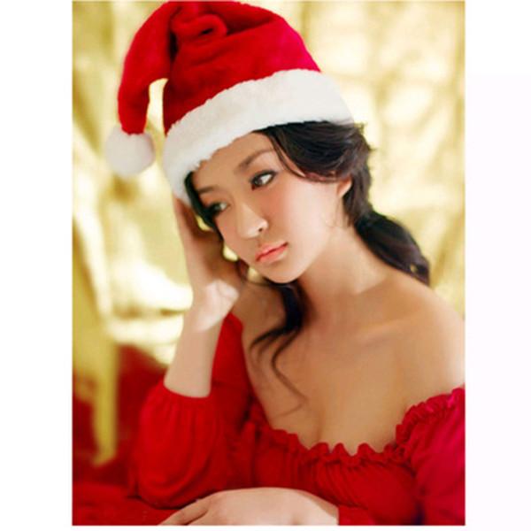 Wholesale Christmas Hat Ornaments Decoration Christmas Santa Hats Children Adult Women Men Boys Girls Cap For Party