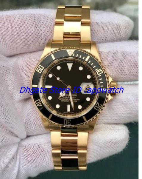 2018 Hot N Factory V5 Asia 2813 movimento orologio oro ceramica lunetta in vetro zaffiro 40mm II 16618 nuovo stile mens orologi da polso p1