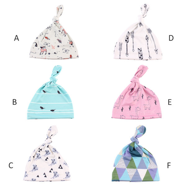 6pcs Baby Hats Boys Girls Cap Toddler Beanies Lovely Design Hat Kids Child Infant Hat Caps for 0-6 month children MZ08