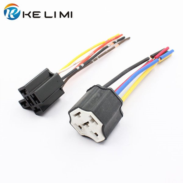 2019 KELIMI Automobile Truck 12V 40A 4 Pins Relay Socket Wiring Harness on