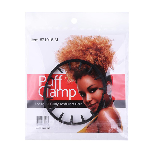 Puff Hair Clamp Runde Schwarze Haarspange Afroamerikaner Afro Curly Puff Styling Tools