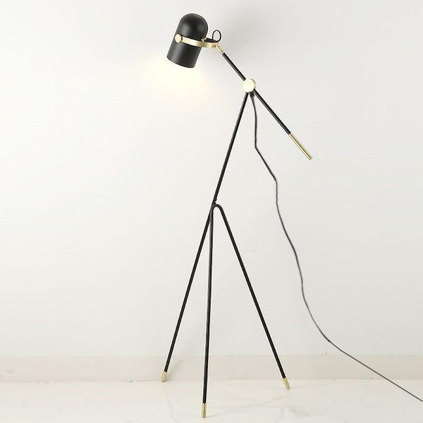 lamp tripod floor lamp tripot nightstand Chinese industrial floor black metal shade e27 bulb home decor lighting